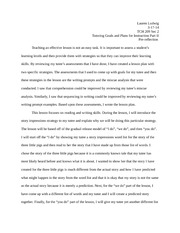 TCH 209 tutoring paper part 2 pre-reflection