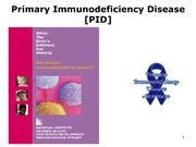 Lecture 14 Primary Immunodeficiency Disease