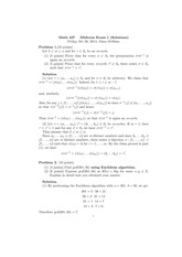 MATH 427 Fall 2014 Midterm 1 Solutions