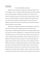 James Madison Synthesis Essay