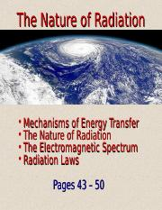 Lecture 4 - The Nature of Radiation (1.22.15)