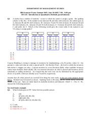 Past Paper 2005 solutions.doc