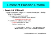 Chapter 20-Defeat of Prussian Reform