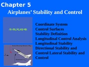 Chapter 5  Airplanes Stability and Control