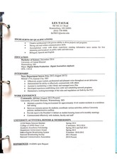 Highlights of a resume