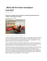 What will the future workplace look