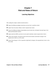 ch 07 Risk and Return