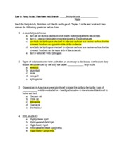 Lab 3_Fatty Acids, Nutrition  Health Worksheet (1)