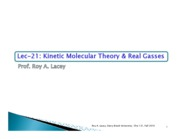 Lecture 18  Kinetic Molecular Theory & Real Gasses