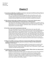 chapter 9 extra credit management