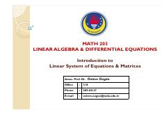 MATH203_Intro to Systems of Linear Eqns