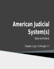 United States Judicial Systems
