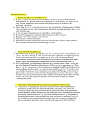 Disabilities Act Study Guide