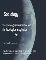 1a Sociological Perspective Part 1