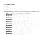 ACC 557 Homework Chapters Ch. 3 E3-4