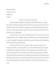 English - Narrative Descriptive Essay Final Draft.doc