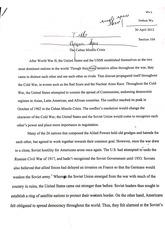 cuban missile crisis essays