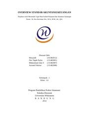 Paper Pelaporan Akuntansi Keuangan Cover Overview Standar