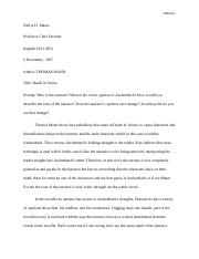Nerlys D Marzo Death in venice ESSAY ( ENGL 2333).docx