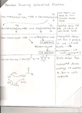 Reactions Involving Delocalized Electrons