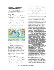 Lab 2 How does Plate Tectonics Work