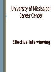 Effective Interviewing