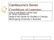 Lesson1-Cambournes_Seven_Conditions_of_Learning