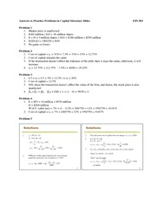 Answers to problems in capital structure slides(1)