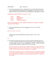 MSE160 2014 Quiz 1 (Ver.1) Solutions