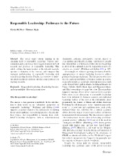 Responsible Leadership Pathways to the Future
