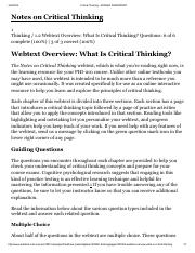 Critical Thinking 1-2
