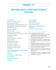 CHAPTER 9 Introduction to Internal Control Systems