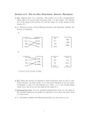 Study Guide on Inverse Functions