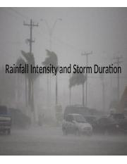Lecture06 - Rainfall Intensity and Storm Intensity.pptx