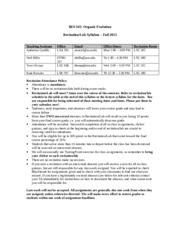 BIO345 RECITATION LAB Syllabus