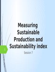 7. Measuring sustainable production and Sustainability index.pptx