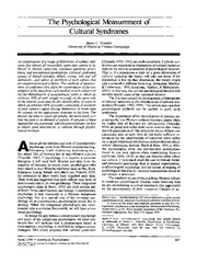 Triandis_1996_article
