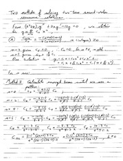 Math 320 Second Order Relations Notes