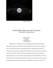 Orbital Debris Detection and Collection