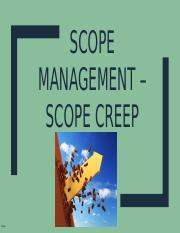Chapter 5- Scope Creep