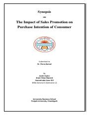 Synopsis- Impact of sales promotion of purchase intention of consumer.pdf