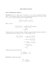 Hw1 Solutions To Hw1 Stein And Shakarchi Chapter 1 Exercise 1 A We