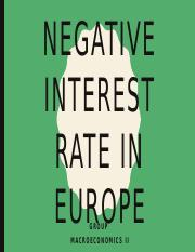 Negative interest rate in europe.pptx