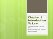 Chapter 1 Introduction To Law Lecture Slides