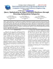 2. a Query Optimization in Object Oriented Databases 2012.pdf