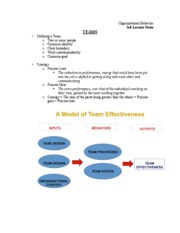 Team Lecture Notes