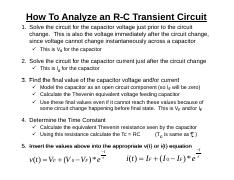 How to Analyze an R-C Transient Circuit.pdf