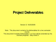 ProjectDeliverables-Fall2005