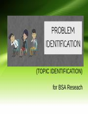 PROBLEM IDENTIFICATION.ppt