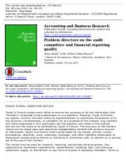 Problem directors on the audit committee and financial reporting quality.pdf